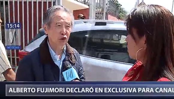 """Alberto Fujimori sobre Keiko y Kenji: """"Hay una división momentánea"""""""