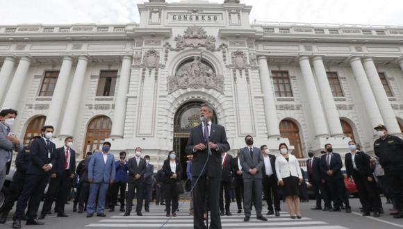 El Gobierno de Sagasti argumentó su posición frente al Congreso. (Foto: AFP)