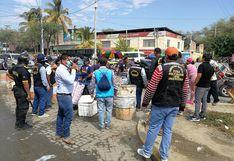 Piura: Desalojan a 500 ambulantes que tomaron las vías adyacentes al Mercado Modelo (FOTOS)