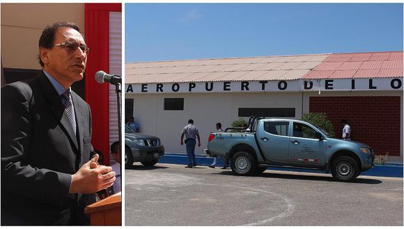 Moquegua: Vizcarra anuncia reactivación del aeropuerto de Ilo para 2017