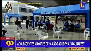 Tacna: menores de 14 a 17 años ya acuden a vacunarse contra el COVID-19 (VIDEO)
