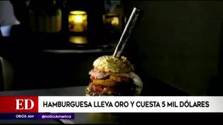 La hamburguesa mas cara del mundo cuesta 20 mil soles y lleva láminas de oro (VIDEO)