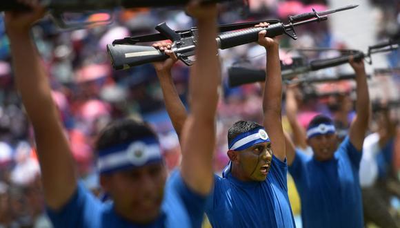 La Unidad de Fuerzas Especiales del Ejército de Salvador durante un desfile por la independencia de Centroamérica en San Salvador. Imagen del 15 de septiembre de 2015 (Foto: Marvin Recinos / AFP)