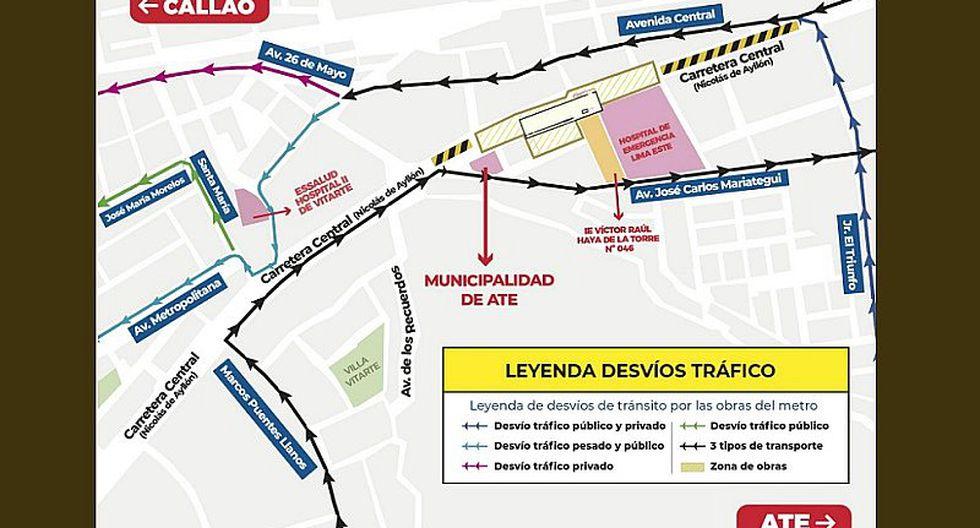 Metro de Lima: Refuerzan plan de desvíos por cierre de Carretera Central