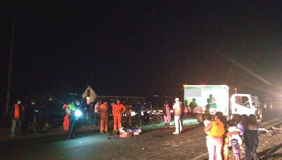 El accidente de tránsito, que enluta a una familia sechurana, ocurrió en el caserío Chusis.
