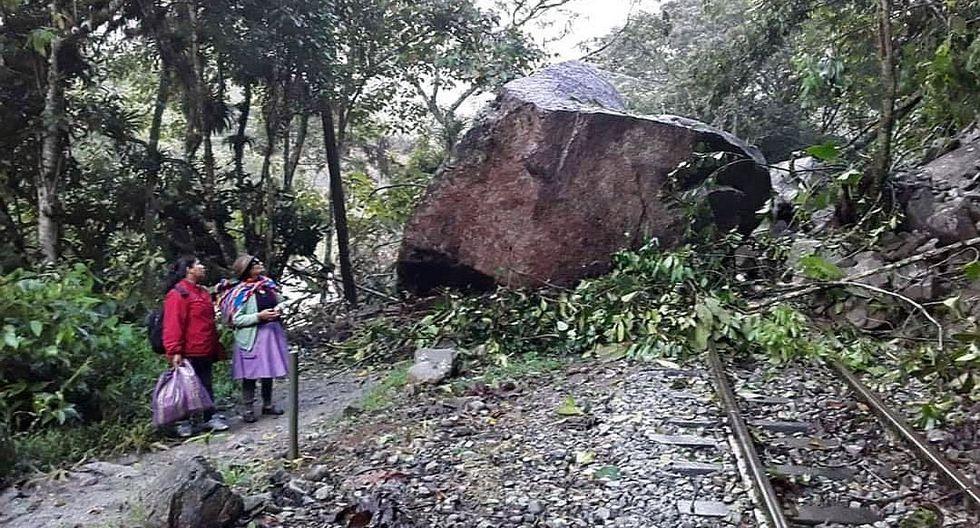 Inmensa roca cae en la vía férrea Machu Picchu - Hidroeléctrica (FOTOS)