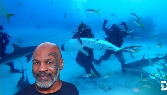 Mike Tyson supera desafío al nadar en aguas infestadas de tiburones