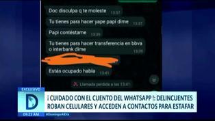 Delincuentes roban teléfonos celulares para acceder a contactos de 'Whatsapp' para estafarlos