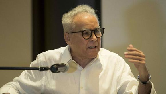 Fotografía de archivo del 29 de abril de 2021 que muestra al aspirante presidencial de Nicaragua de la oposición Noel José Vidaurre Argüello, durante una conferencia en Managua (Nicaragua). EFE/ Jorge Torres A