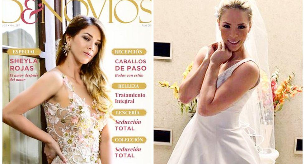 Sheyla Rojas aparece en portada de revista para novios pese a cancelar su boda con Pedro Moral (FOTOS)