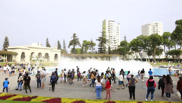 El Circuito Mágico del Agua y el club zonal Cahuide serán escenarios de espectáculos culturales al aire libre. (Foto: Jessica Vicente / @photo.gec)