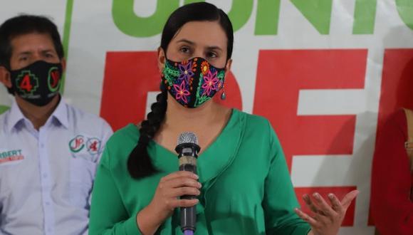 Verónika Mendoza candidata de Juntos por el Perú. (Foto: Luis Centurión | GEC)