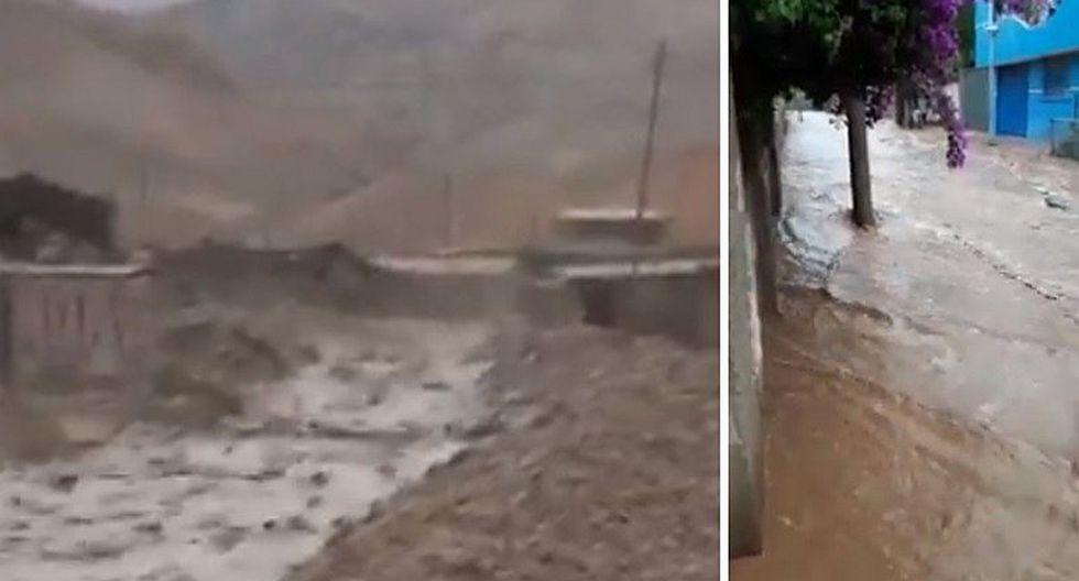 Arequipa: se registró intensa lluvia en Caravelí y huaico en Camaná (VIDEOS)