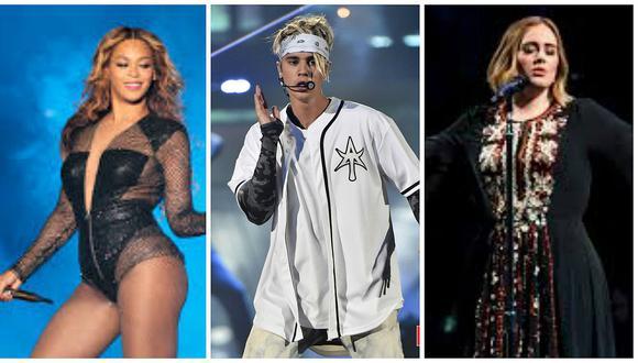 Grammy 2017: Adele, Beyoncé y Justin Bieber encabezan lista de nominados