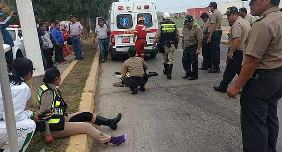 Ilo: Taxista embiste a mujeres policías que iban en motocicleta
