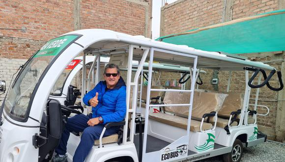 Actor peruano emprende con buses eco amigables. (Foto: Perú 21)
