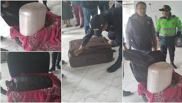 Capturan a individuo que abandonó una maleta con 16 kilos de marihuana