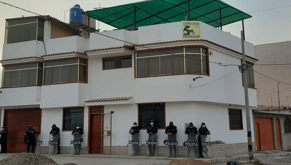 Vivienda de tres pisos en el distrito Albarracín de propiedad de Víctor Ticona Amones