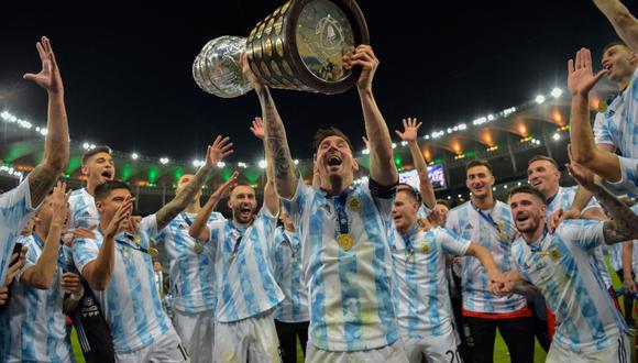 Lionel Messi consiguió su primer título con la Selección Argentina en la Copa América 2021. (Foto: AFP)