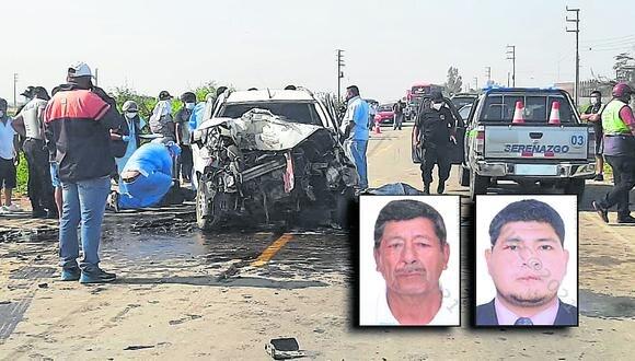 Nuevamente un accidente de tránsito enluta a una familia lambayecana, tras la colisión de una camioneta contra un volquete.