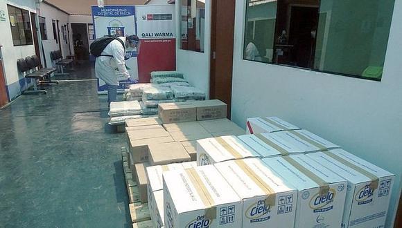Qali Warma entrega alimentos a municipio de Palca