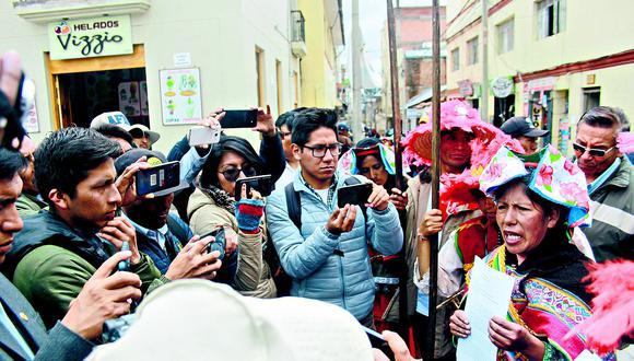 Chunchos de Esquilaya amenazan con danzar en Juliaca