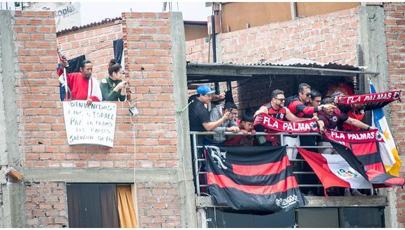 Copa Libertadores: Hincha Israelita se unió a fanáticos brasileños para alentar al Flamengo (FOTOS)