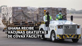 Ghana recibió la primera entrega mundial de vacunas contra el coronavirus financiadas por COVAX