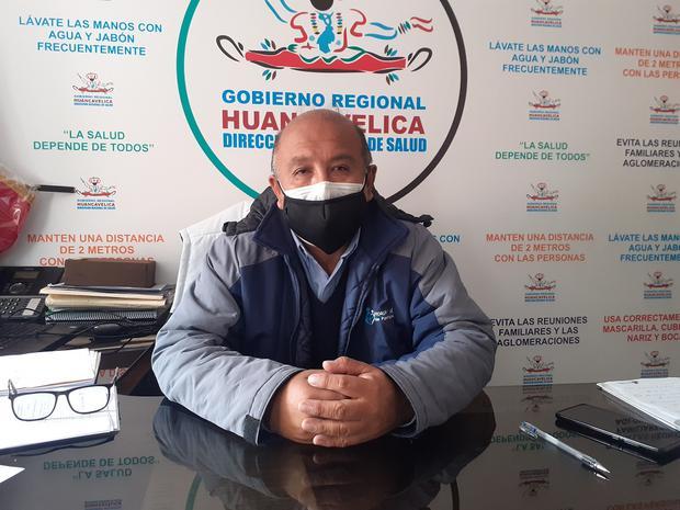 Titular de la Dirección Regional de Salud de Huancavelica, Juan Gómez Límaco.