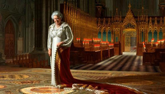 Desfiguran retrato de la reina Isabel en Londres