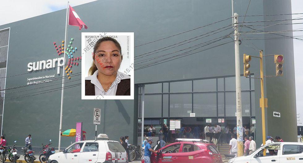 Detienen a trabajadora de Sunarp Chiclayo implicada en presunta red criminal