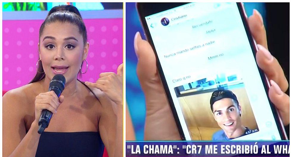 'La Chama' reveló los chats privados que mantuvo con Cristiano Ronaldo (VIDEO)