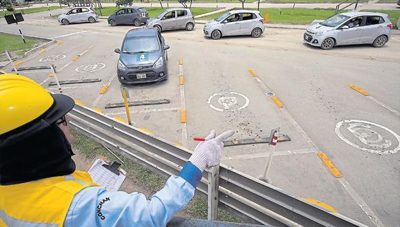 El tiempo de evaluación en la vía pública no debe ser menor de 15 minutos ni mayor de 30. (Foto: GEC)