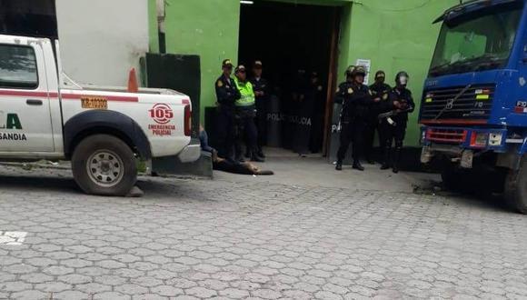 Autoridades ordenaron el levantamiento del cadáver.