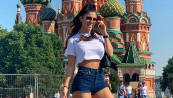 Yahaira Plasencia paseó por las calles de Moscú tras el fin de la cuarentena en Rusia. (Foto: Instagram)