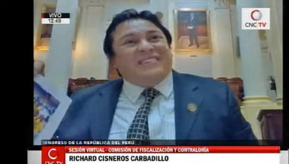 Richard Cisneros, conocido como 'Richard Swing', detalló que coordinaba con Susana de la Puente en la campaña presidencial del 2016. (Foto: Captura Canal del Congreso)