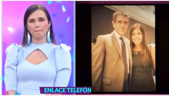 """La conductora de televisión se comunicó telefónicamente con el programa """"En boca de todos"""" tras el fallecimiento de su esposo Javier Carmona. (Foto: América TV)"""