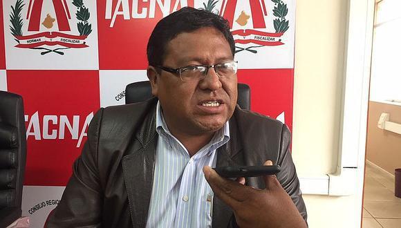 Jaime Bautista Aquino, exconsejero regional de Tacna. (Foto: Correo)