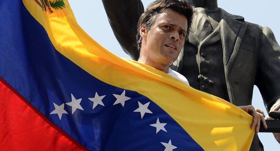 Leopoldo López fue uno de los líderes que protagonizó las protestas de oposición del 2014 y por eso fue detenido. (Foto: AFP)