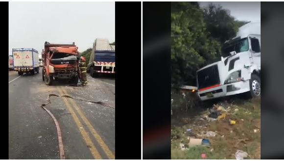 Agentes de Seguridad Ciudadana de Víctor Larco y bomberos rescataron a chófer que tuvo que hacer maniobra temeraria para no matar a motociclista.