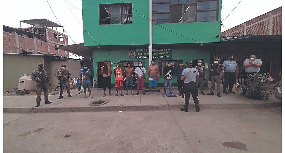 """4,854 detenidos en """"toque de queda"""" en la región Tumbes"""