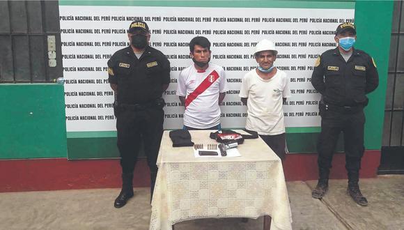 Fueron detenidos en una vivienda del centro poblado Alto Trujillo (El Porvenir), en donde se encontraron dos motocicletas robadas.
