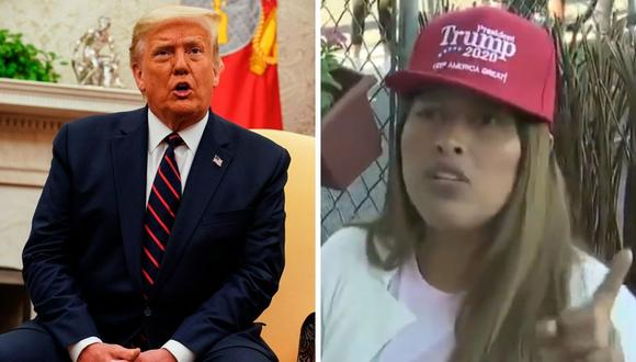Donald Trump publicó un video donde una inmigrante peruana habla sobre su mandato. (Foto: EFE / Anna Moneymaker / Twitter:@realDonaldTrump).