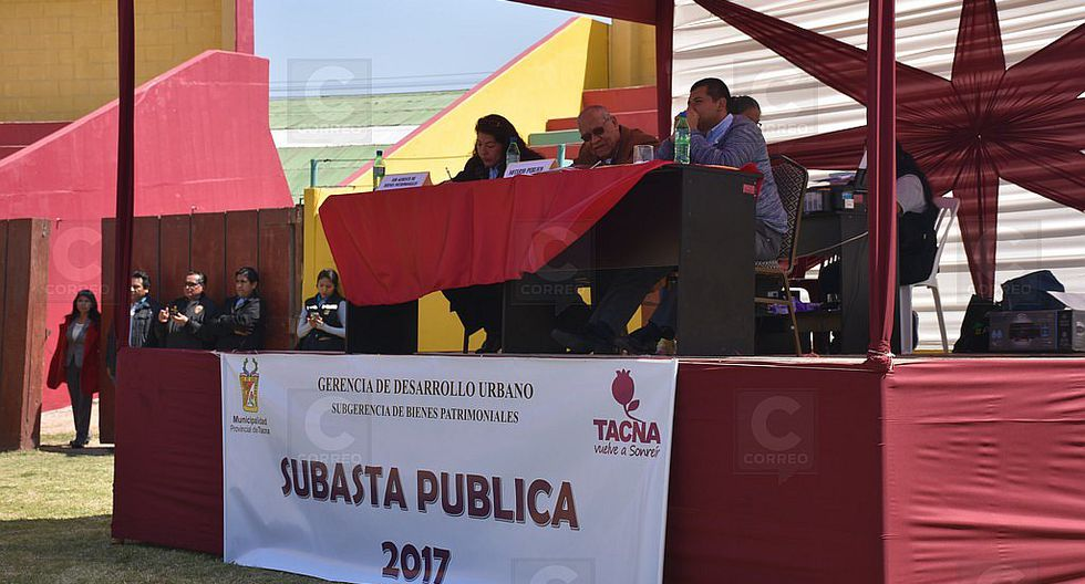 Municipio provincial subasta tres terrenos y obtiene S/ 35 millones