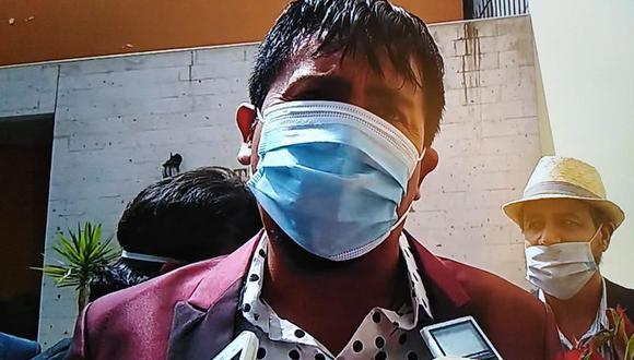 Hace unos días Cáceres Llica trató de lavarse las manos sobre el proyecto que se ejecutó en Yura y que es investigado por el Ministerio Público. (Foto: Correo)