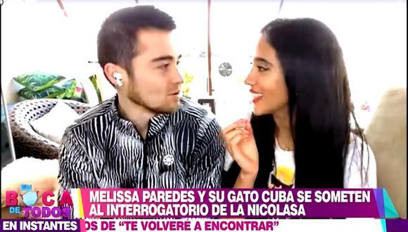 Rodrigo Cuba y Melissa Paredes brindaron una divertida entrevista para En boca de todos. (América)