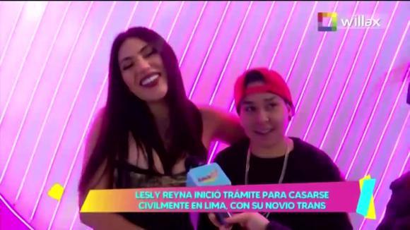 """TROME - Lesly Reyna se casará por civil en Lima con su novio trans: """"Al parecer la boda será la próxima semana"""""""
