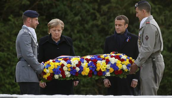 Mandatarios de Francia y Alemania se reúnen por los 100 años del fin de la Primera Guerra Mundial