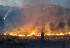 Bomberos luchan contra tres incendios forestales simultáneos en Cusco (FOTOS)