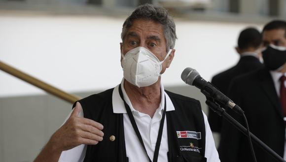 El presidente Francisco Sagasti anunció la llegada de más vacunas contra el COVID-19 de Pfizer. (Foto: GEC)